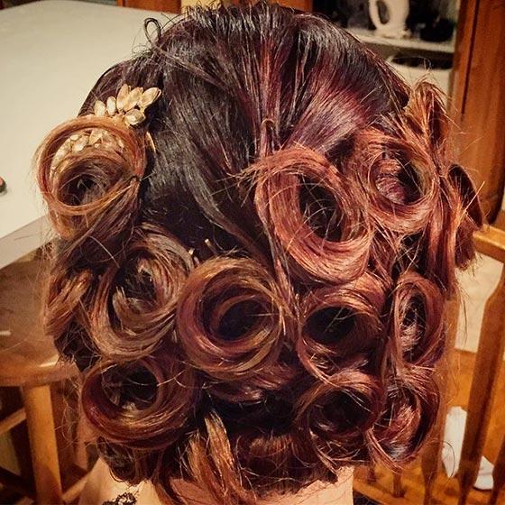 فر کردن مو با بیگودی